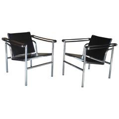 Pair of LC1 Le Corbusier Sling Chairs
