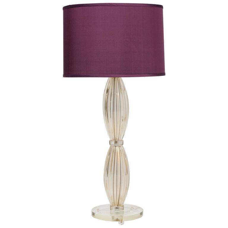 "Single ""Avventurina"" Murano Glass Table Lamp"