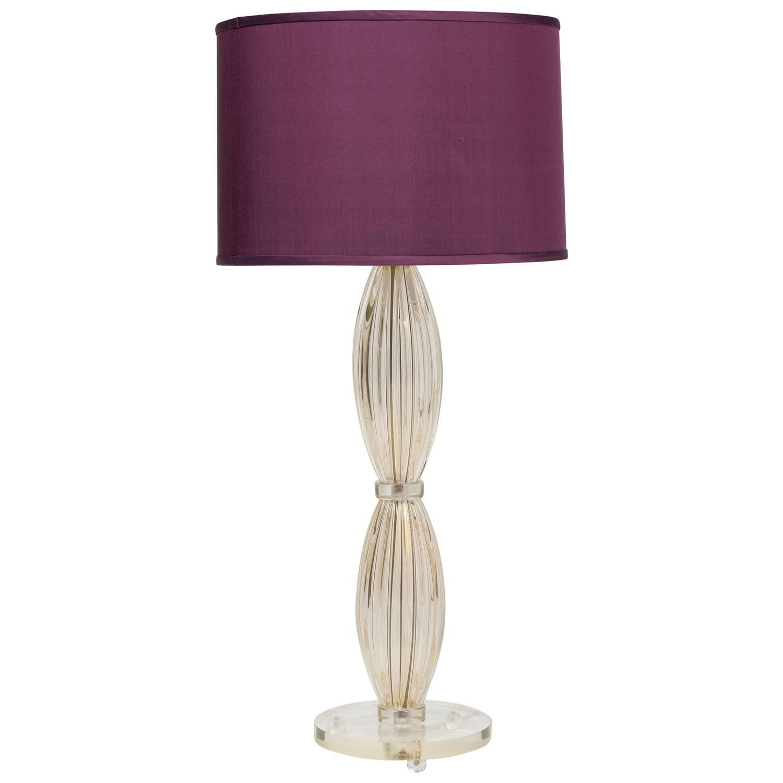 single avventurina murano glass table lamp for sale at 1stdibs. Black Bedroom Furniture Sets. Home Design Ideas