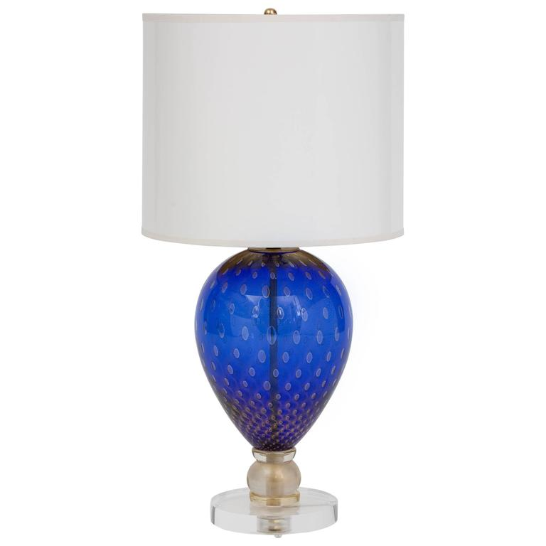 this murano glass blue veronese lamp lucite base is no longer. Black Bedroom Furniture Sets. Home Design Ideas