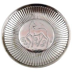 GAB 'Guldsmedsaktiebolaget' Art Deco Silver Platter, Sweden, 1940s