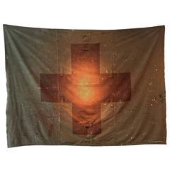 1950s Red Cross Tent Banner