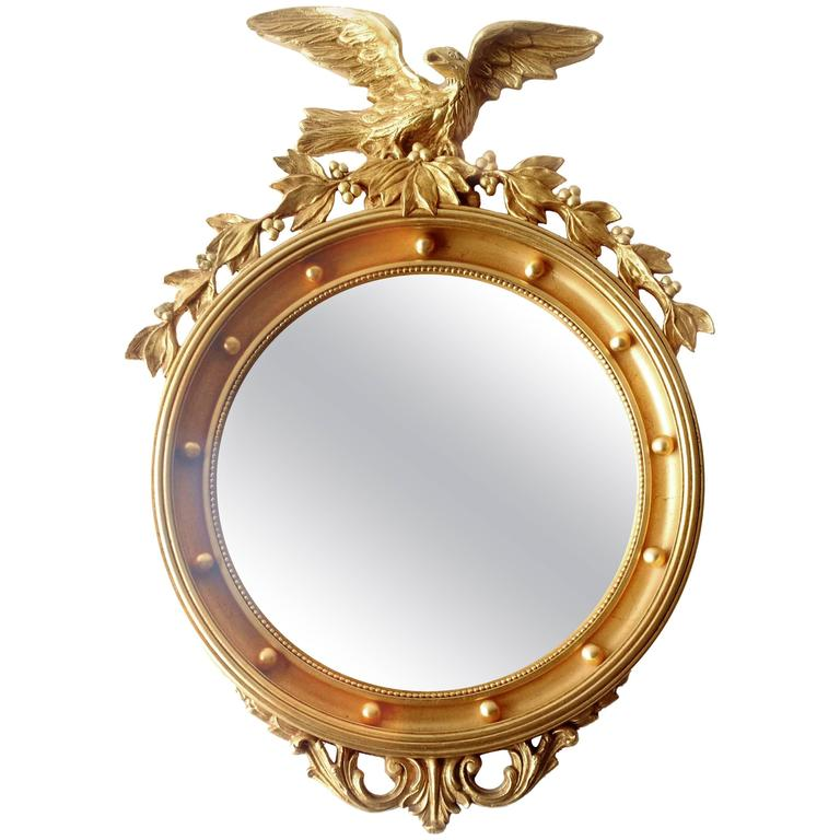 Mid 20th Century Regency Gold Gilded Federal Eagle Convex