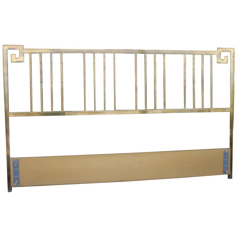 Mastercraft Greek Key Br Vintage King Size Headboard Faux Bamboo Bed For