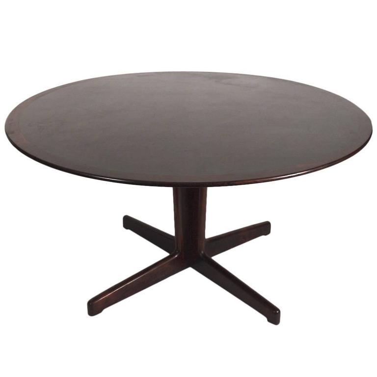 Danish Rosewood And Black Laminate Pedestal Dining Table For Sale At 1stdibs