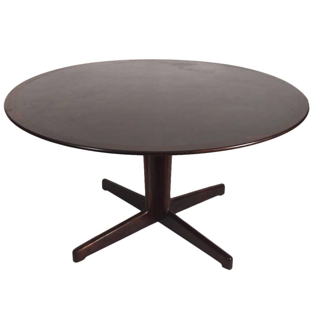 Danish Rosewood And Black Laminate Pedestal Dining Table For Sale At