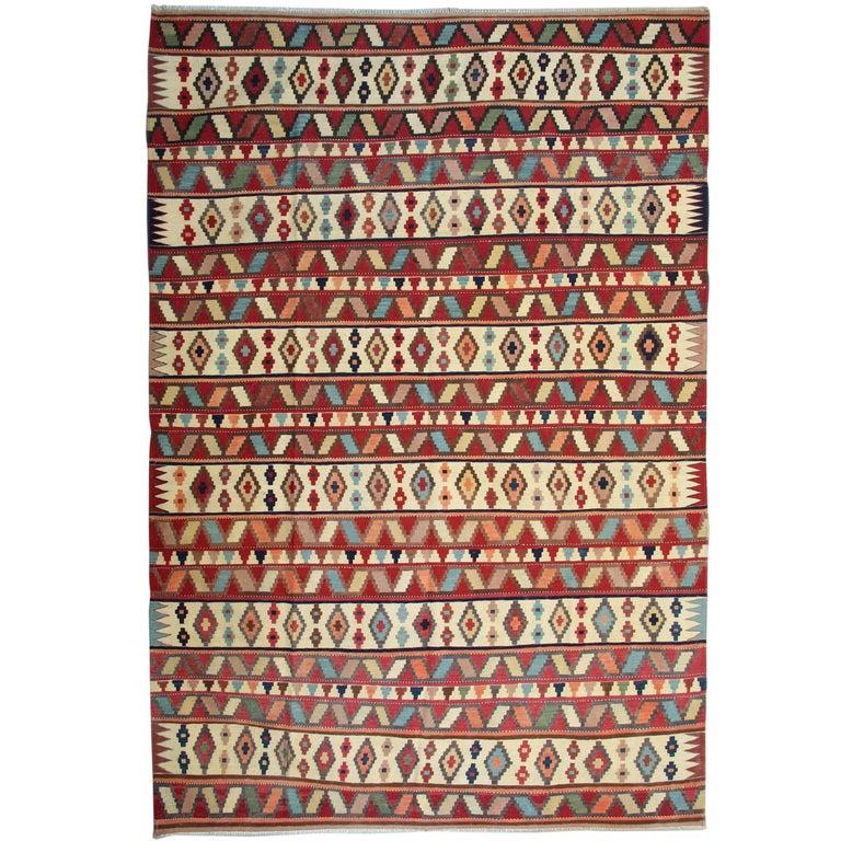 Caucasian Kilim Rug: Vintage Caucasian Kilim Rug For Sale At 1stdibs