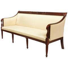 American Federal Mahogany Sofa