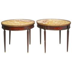 Pair of Louis XVI Style Bouillotte Tables