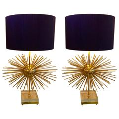 Pair of Big Sputnik Murano Lamps