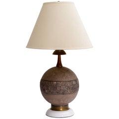 Raymor Italian Ceramic Sphere Lamp