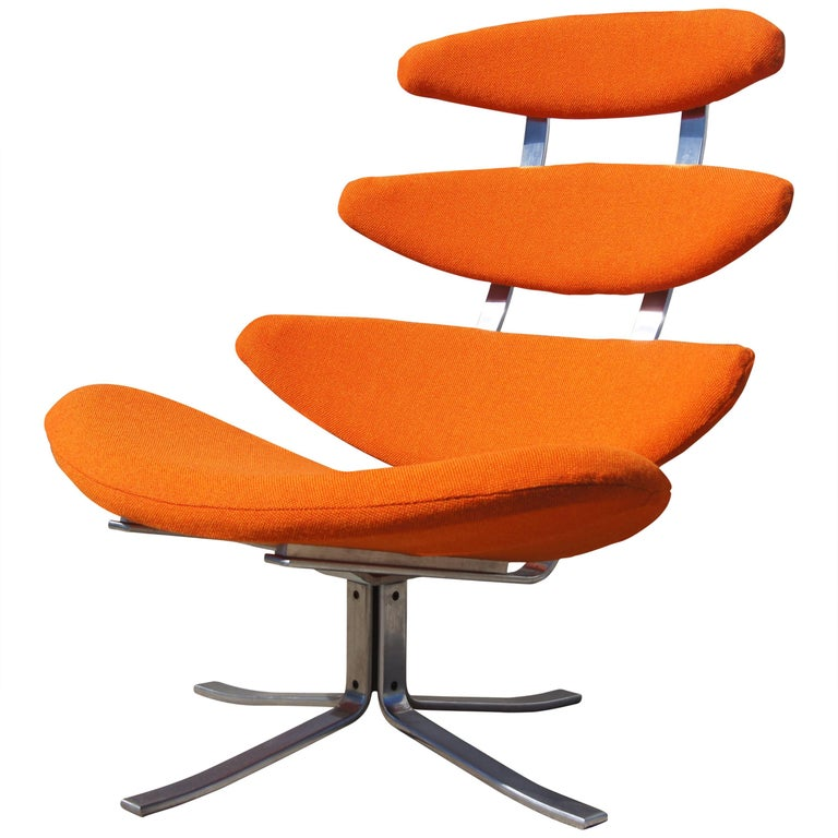 Corona Chair, Model EJ-5, by Poul M. Volther for Erik Jørgensen For Sale