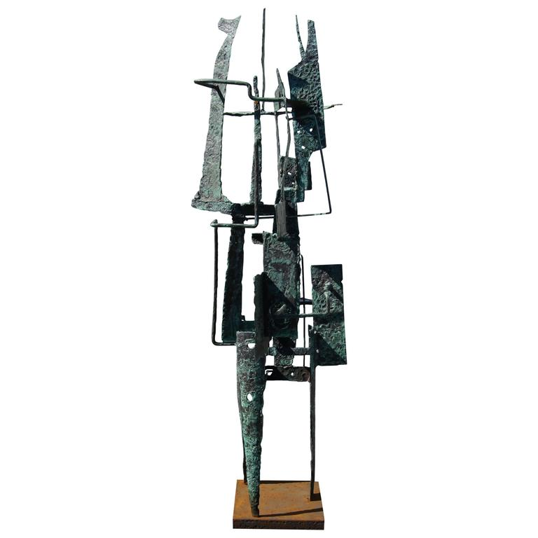 Brutalist Metal Sculpture by Frances Anderson