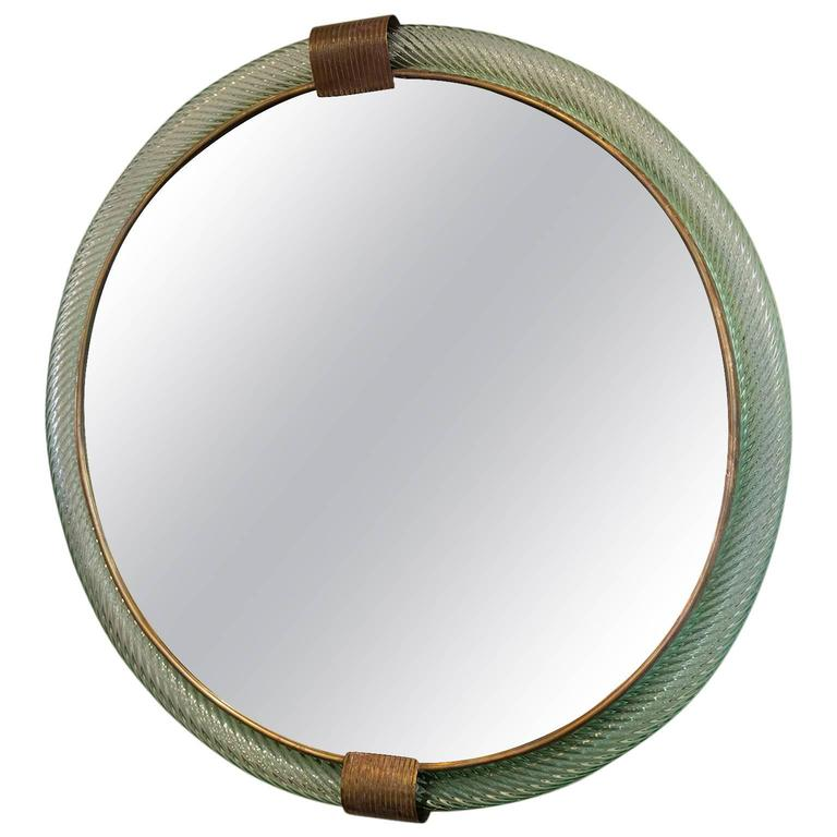 Barovier And Toso Pale Blue Mirror At 1stdibs