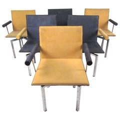 Vintage Memphis Style Swivel Dining Chairs