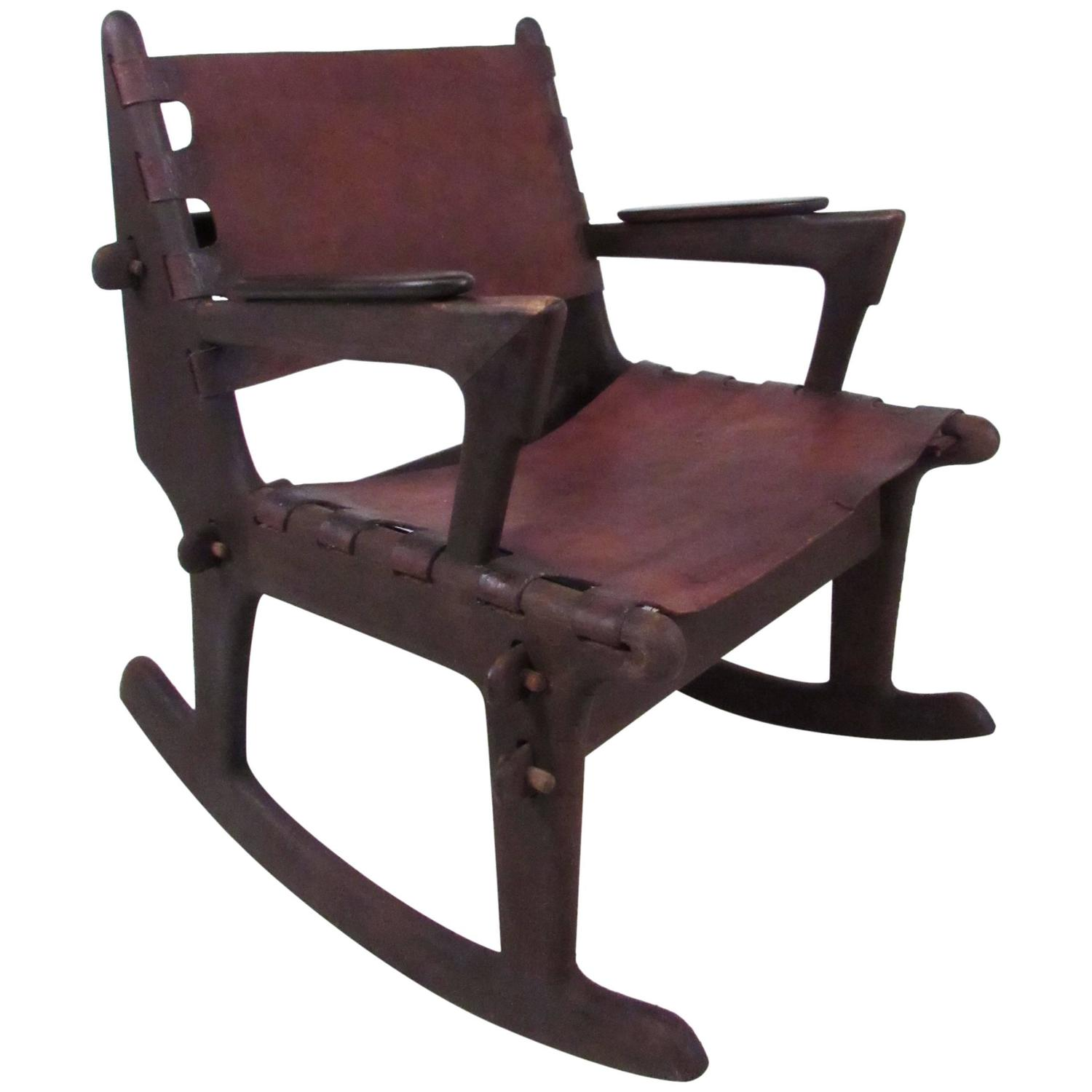 Mid Century Primitive Style Rocking Chair after Don Shoemaker For