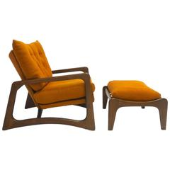 Sculptural Adrian Pearsall for Craft Associates Lounge Chair and Ottoman
