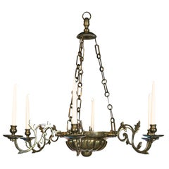 Anglo-Dutch Six-Light Brass Chandelier