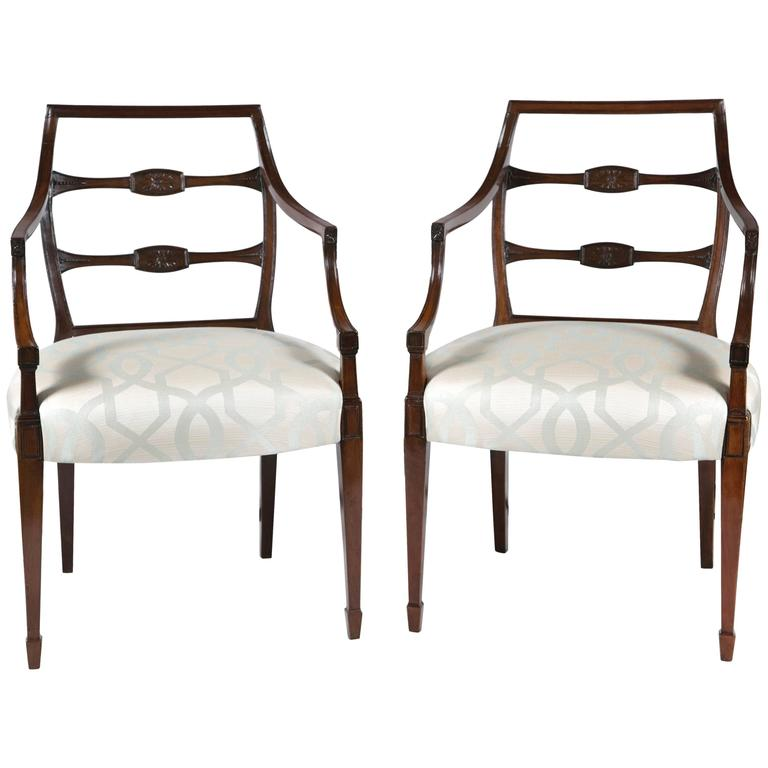 Fabulous Pair of George III Armchairs For Sale