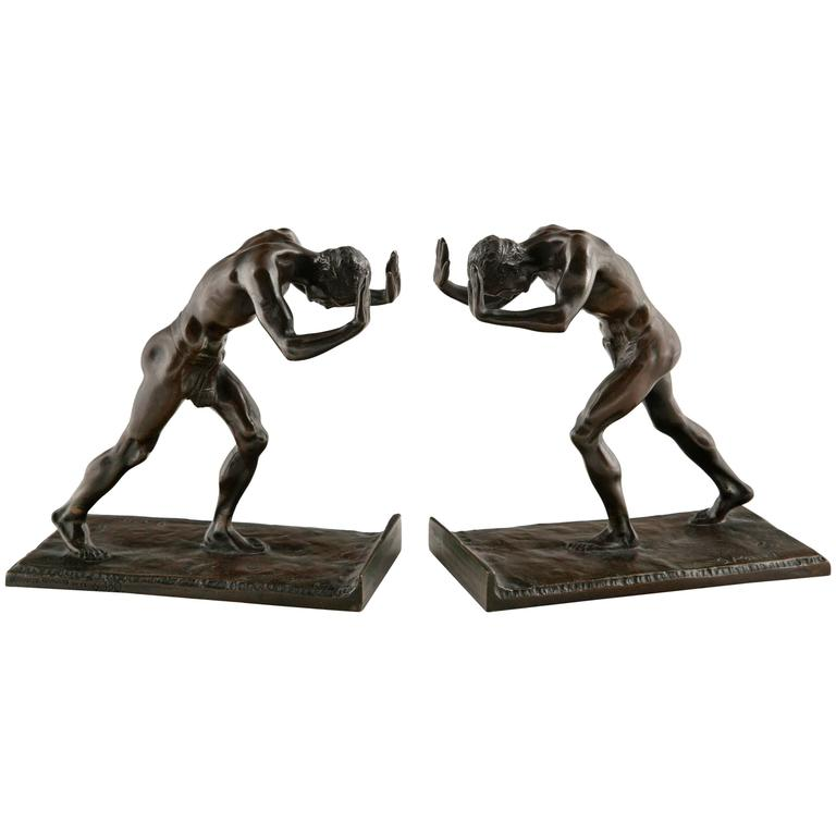 Pair of Art Deco Bookends by Isidore Konti