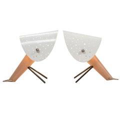 Ernst LGL Pair of Table Lamps for Egon Hillebrend