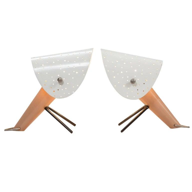 Ernst LGL Pair of Table Lamps for Egon Hillebrend For Sale