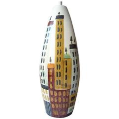 Bitossi, Cityscape Ceramic Table Lamp