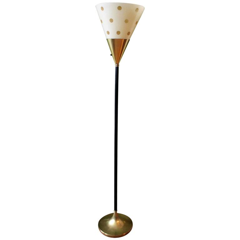 French Art Deco Torchiere Floor Lamp