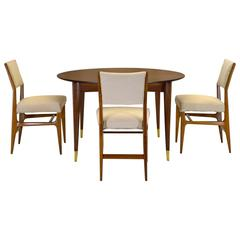 Gio Ponti Dining Table and Four Chairs, 1951
