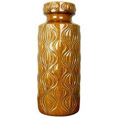 Large West German Floor Vase 'Amsterdam' Deco by Scheurich Pottery, circa 1960's