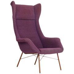 Mid-Century Wingback Chair by Miroslav Navratil for Cesky Nabtek