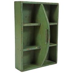 Small Green Hanging Shelf/Tool Box