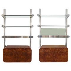 Pair of Janet Schweitzer for Pace Space Age Orba Shelf Systems