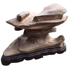 """China Viewing Stone Beautiful """"Wuling"""" Scholar Rock for the Organic Garden"""