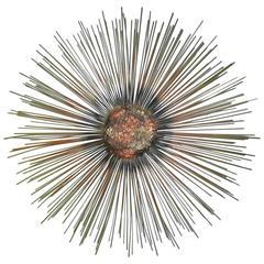 C Jere Starburst Sunburst Mixed Metals Brass Copper Brutalist Wall Sculpture
