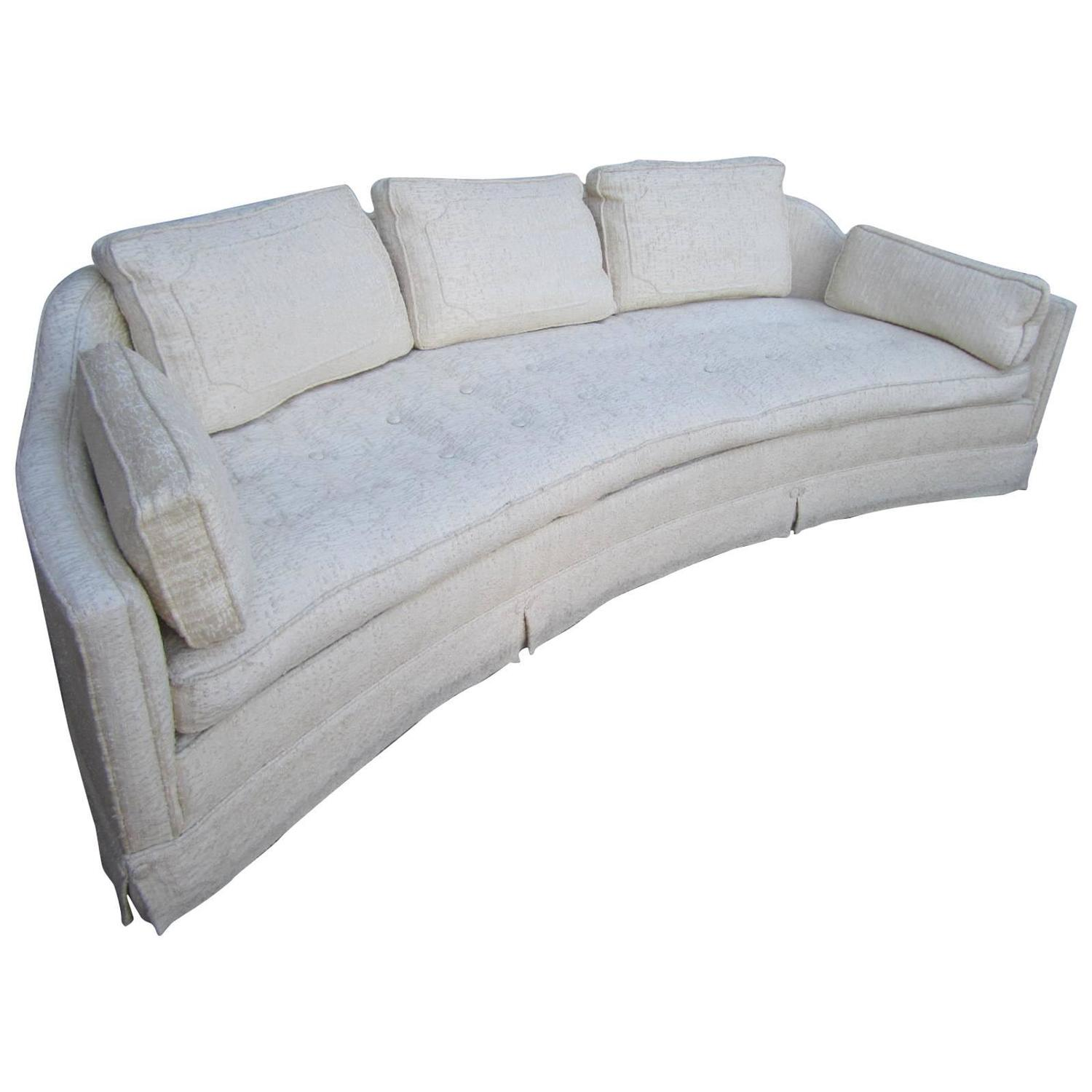 Lovely harvey probber style curved sofa mid century for Mid century modern curved sectional sofa