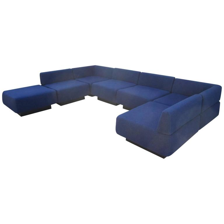 Fabulous Seven-Piece Signed Harvey Probber 'Cubo' Sectional Sofa