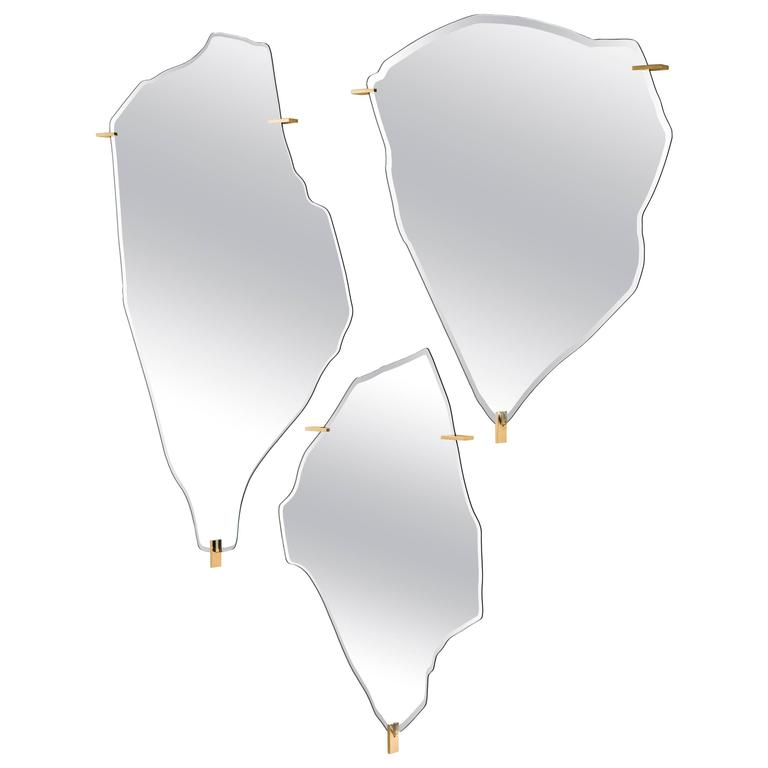 """Archipelago"" Set of Three Mirrors Designed by Fredrikson Stallard for Driade"