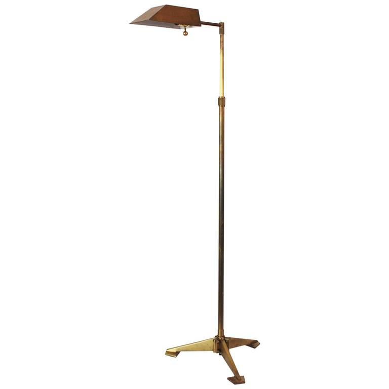 Chapman Brass Tripod Floor Lamp For Sale