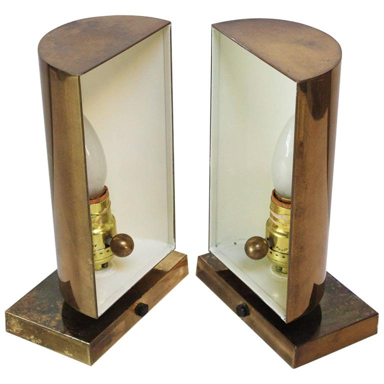 Pair of Chapman Brass Table Scones at 1stdibs