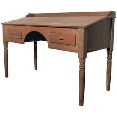 Antique Primitive Wood Standing Desk