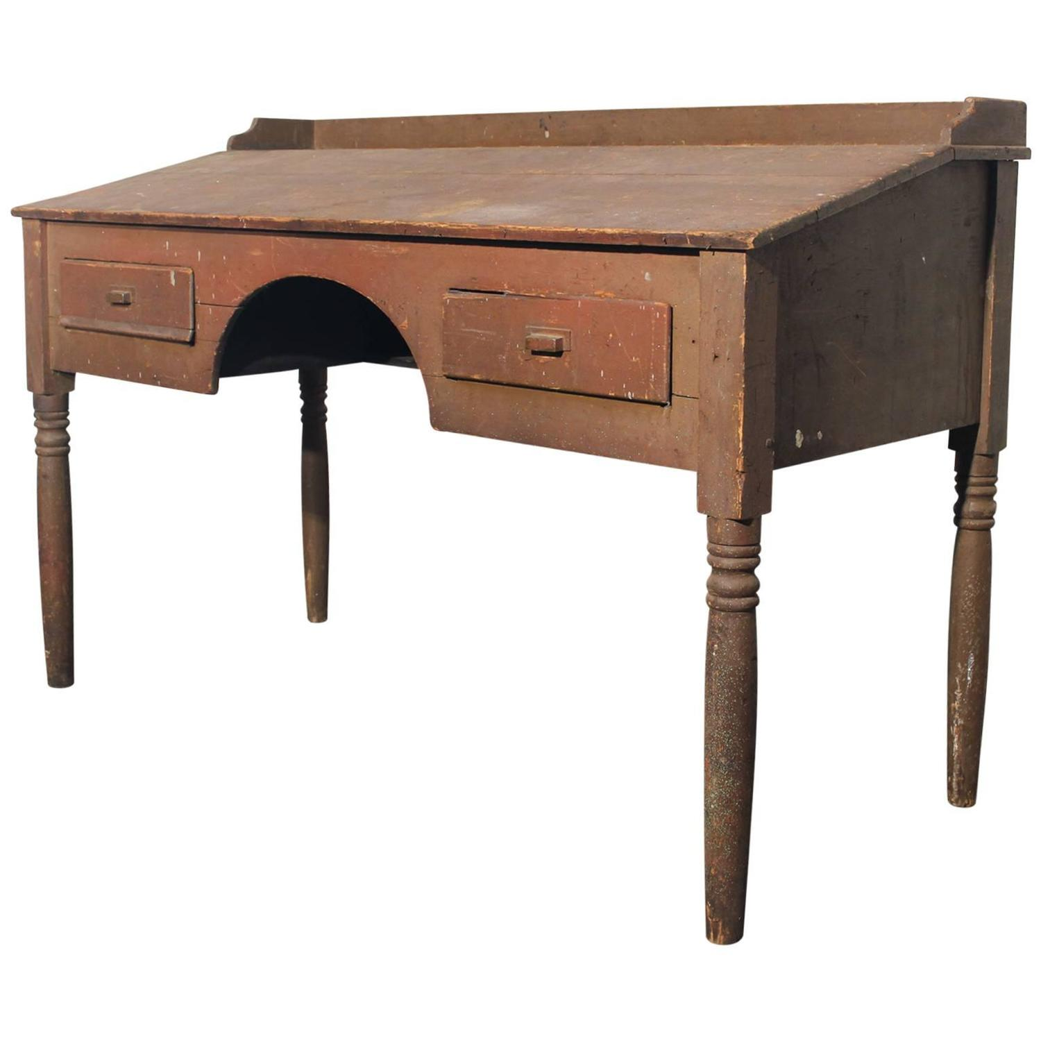Antique primitive wood standing desk for sale at 1stdibs for Plantation desk plans
