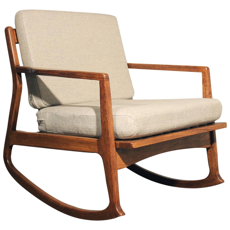 Danish Modern Teak Rocking Chair At 1stdibs