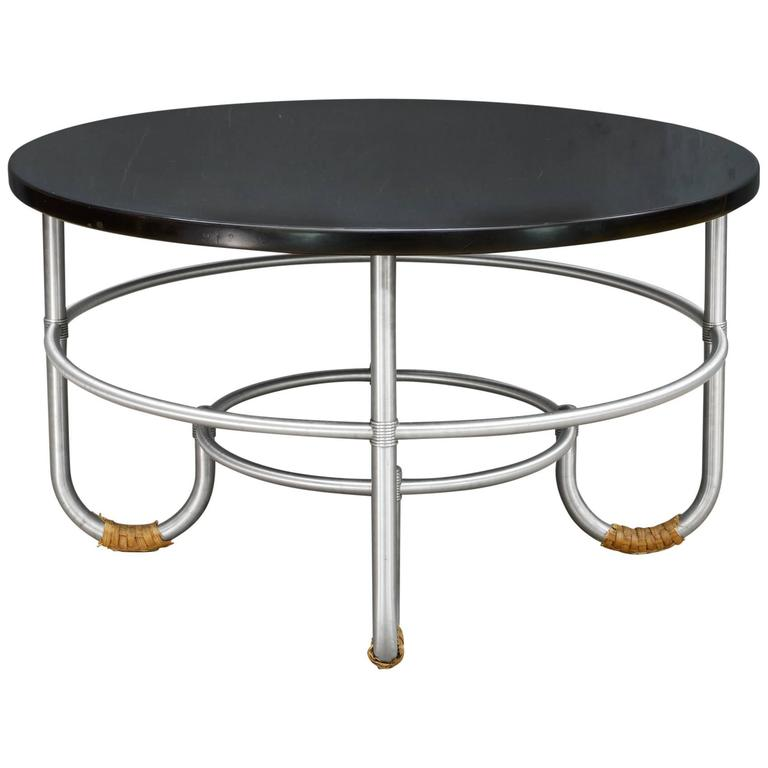 Nyc Art Deco Warren Mcarthur Machine Age Rare J Leg Cocktail Coffee Low Table For Sale At 1stdibs