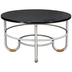 1930s NYC Art Deco Warren McArthur Machine Age J-Leg Coffee Table Mid-Century