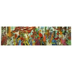 Important 12.5' 1965 Civil Rights Mural by Joan Linsley (1922-2000)