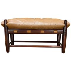 Vintage Cabin Modern Sergio Rodrigues Poltrona Mole Ottoman Bench South American