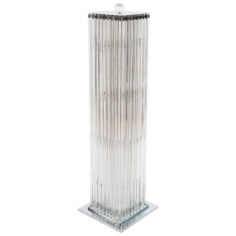 Italian Murano Glass Floor Lamp, circa 1980s