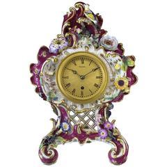 Antique Coalport Porcelain Timepiece by Benjamin Lewis Vulliamy, No. 1186