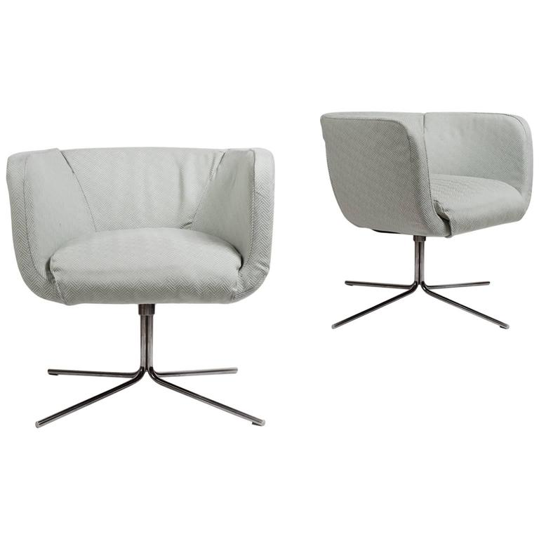 20th Century Pair of Swivel Chairs by Piero Lissoni